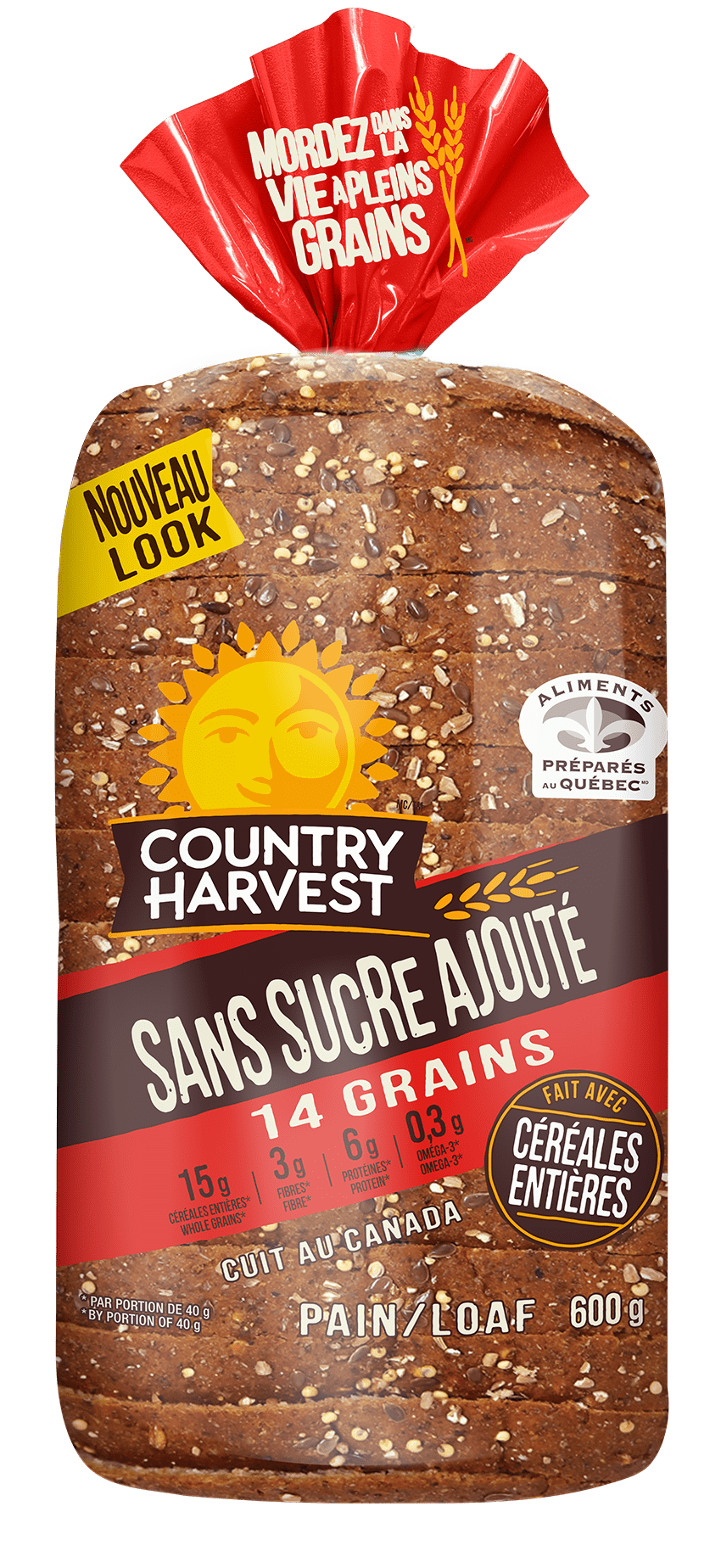 Country Harvest No Sugar Added 14 Grains