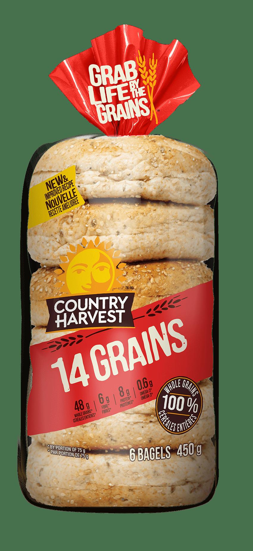 Country Harvest 14 Grains Bagels