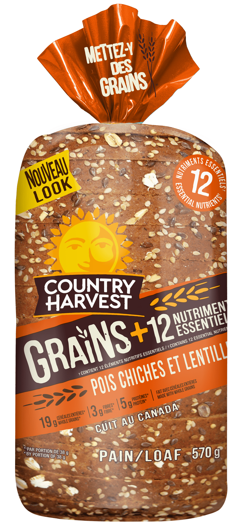 Country Harvest Pois Chiches et lentill