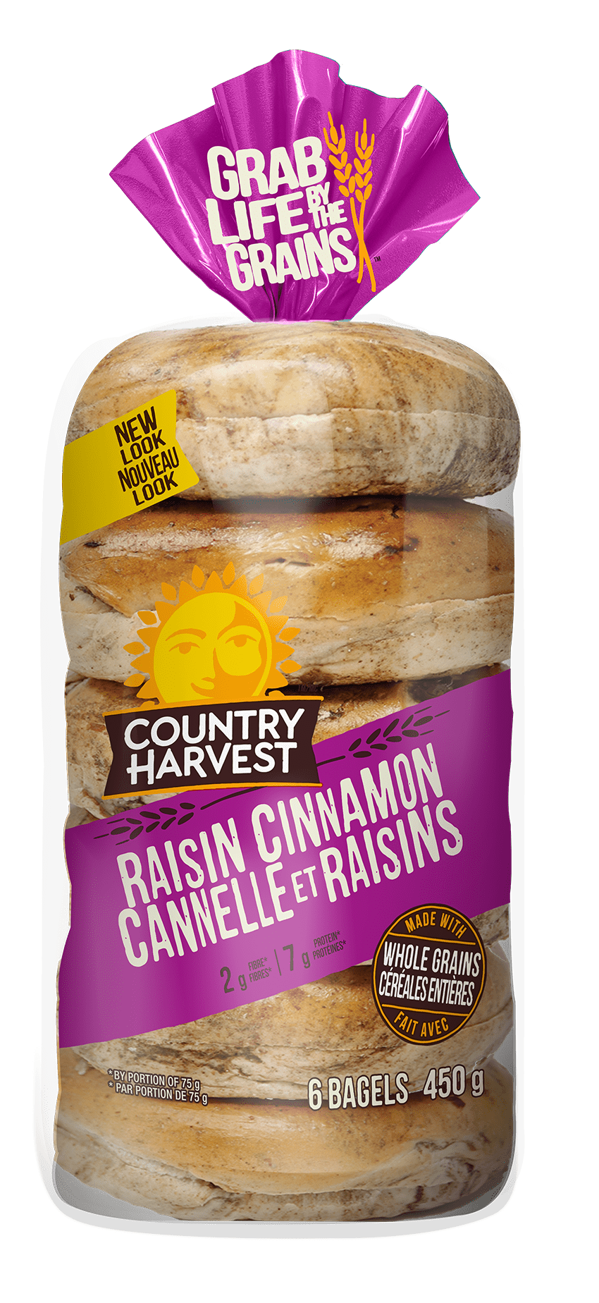 Country Harvest Cinnamon Raisin Bagels