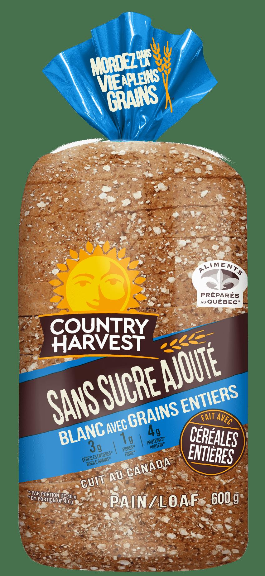 Country Harvest blanc avec grains entier