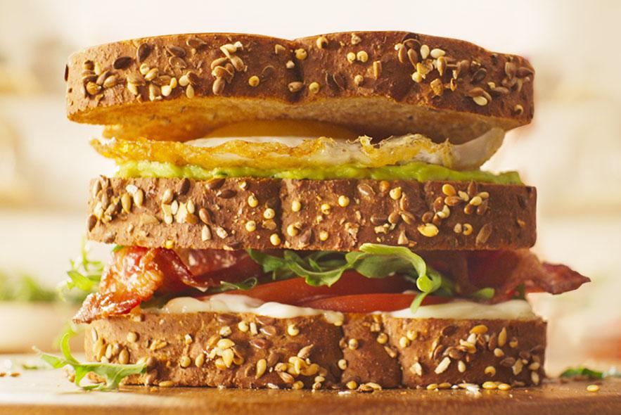 """Triple-Decker """"Breakfast Club"""" Sandwich"""