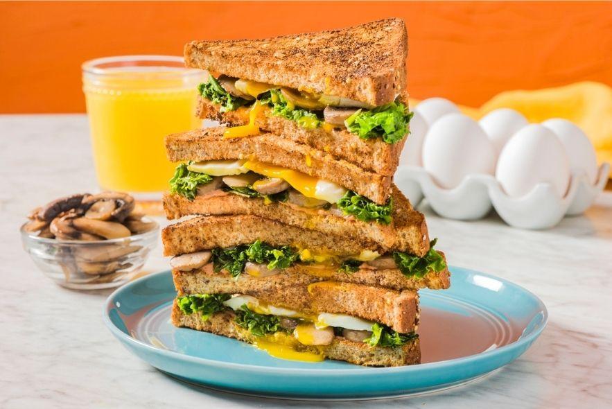 Kale & Mushroom Breakfast Sandwich